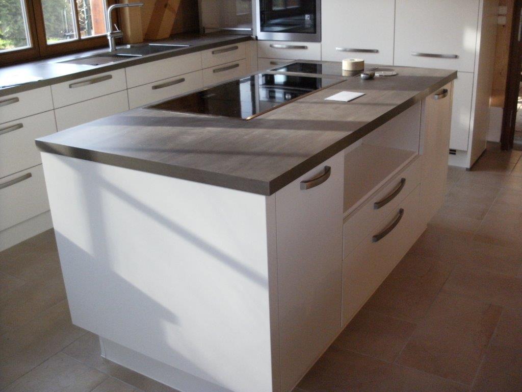 Abluftsystem Küche   Holzhaus Trifft Auf Moderne Lack Kuche Gutsmann Kuchen