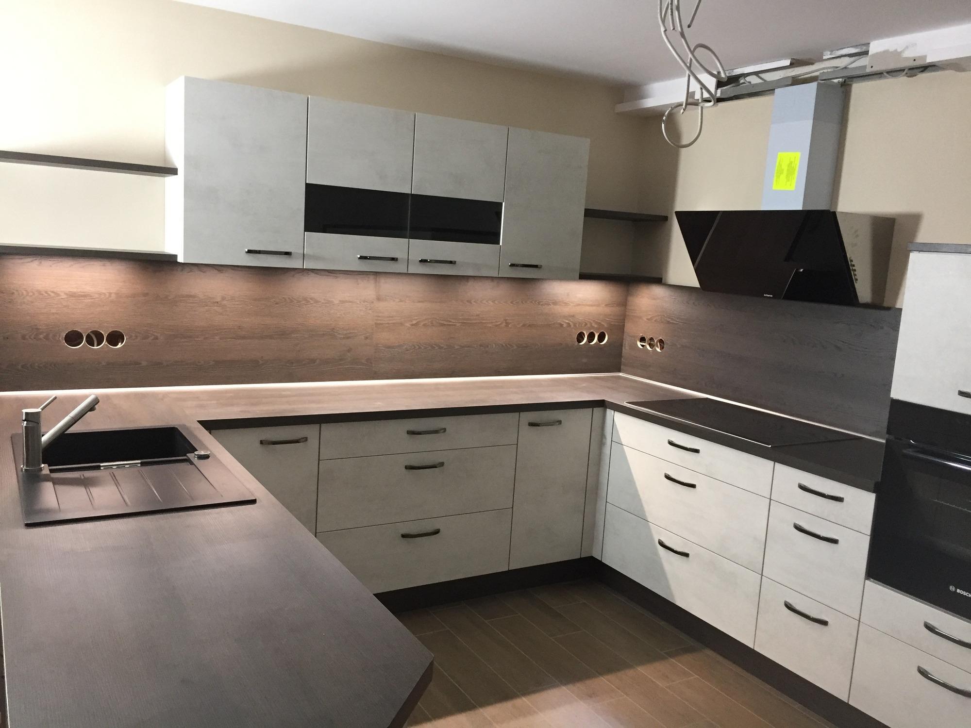 großzügige offene küche in betonoptik - gutsmann küchen